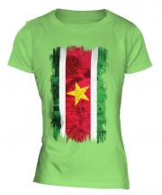 Suriname Grunge Flag Ladies T-Shirt