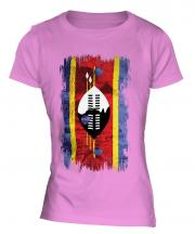 Swaziland Grunge Flag Ladies T-Shirt