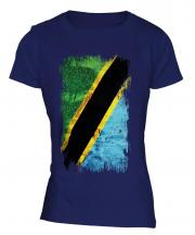 Tanzania Grunge Flag Ladies T-Shirt