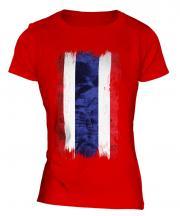 Thailand Grunge Flag Ladies T-Shirt