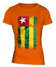 Togo Grunge Flag Ladies T-Shirt