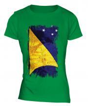 Tokelau Grunge Flag Ladies T-Shirt