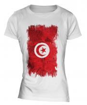 Tunisia Grunge Flag Ladies T-Shirt