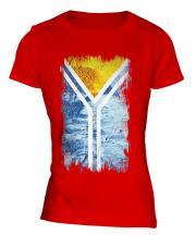 Tuva Grunge Flag Ladies T-Shirt