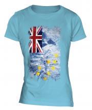 Tuvalu Grunge Flag Ladies T-Shirt