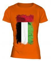 United Arab Emirates Grunge Flag Ladies T-Shirt