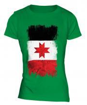 Udmurtia Grunge Flag Ladies T-Shirt