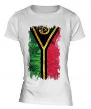 Vanuatu Grunge Flag Ladies T-Shirt
