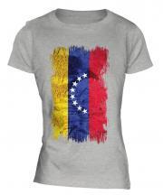 Venezuela Grunge Flag Ladies T-Shirt