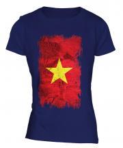 Vietnam Grunge Flag Ladies T-Shirt