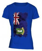 Uk Virgin Islands Grunge Flag Ladies T-Shirt