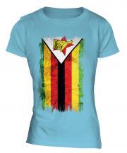 Zimbabwe Grunge Flag Ladies T-Shirt