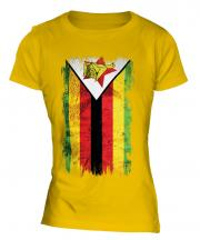 Zimbabwe Grunge Flag Ladies T-Shirt