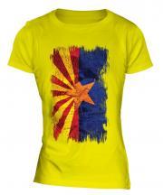 Arizona State Grunge Flag Ladies T-Shirt