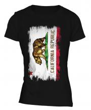 California State Grunge Flag Ladies T-Shirt