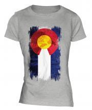 Colorado State Grunge Flag Ladies T-Shirt