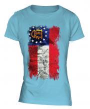 Georgia State Grunge Flag Ladies T-Shirt