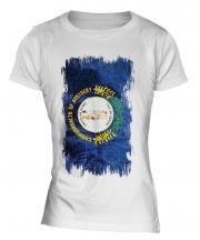 Kentucky State Grunge Flag Ladies T-Shirt