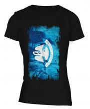 Louisiana State Grunge Flag Ladies T-Shirt