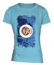 Minnesota State Grunge Flag Ladies T-Shirt