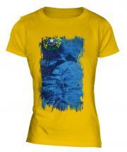 Nevada State Grunge Flag Ladies T-Shirt