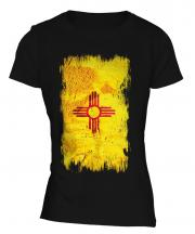 New Mexico State Grunge Flag Ladies T-Shirt