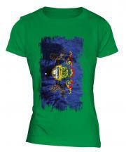 Pennsylvania State Grunge Flag Ladies T-Shirt