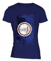 Virginia State Grunge Flag Ladies T-Shirt