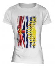 British Columbia Grunge Flag Ladies T-Shirt