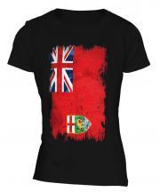 Manitoba Grunge Flag Ladies T-Shirt