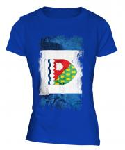 Northwest Territories Grunge Flag Ladies T-Shirt