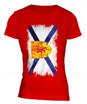 Nova Scotia Grunge Flag Ladies T-Shirt