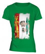 Prince Edward Island Grunge Flag Ladies T-Shirt