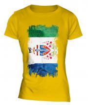 Yukon Grunge Flag Ladies T-Shirt