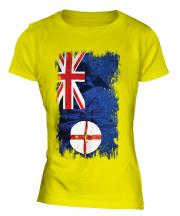 New South Wales Grunge Flag Ladies T-Shirt