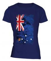 Victoria Grunge Flag Ladies T-Shirt