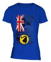 Western Australia Grunge Flag Ladies T-Shirt