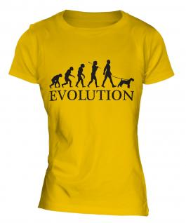 Airedale Terrier Evolution Ladies T-Shirt