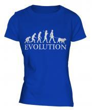 American Akita Evolution Ladies T-Shirt