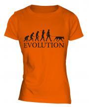 Doberman Pinscher Evolution Ladies T-Shirt