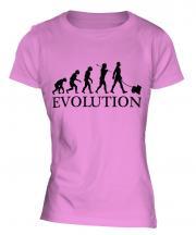 Japanese Chin Evolution Ladies T-Shirt