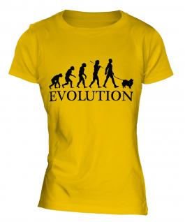 Keeshond Evolution Ladies T-Shirt