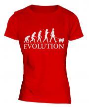 Keeshond Evolution Ladies T-Shirt