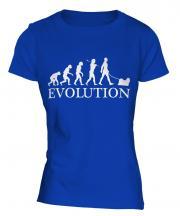 Lhasa Apso Evolution Ladies T-Shirt