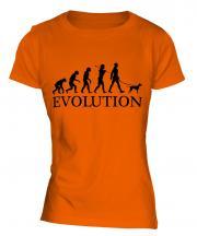 Manchester Terrier Evolution Ladies T-Shirt