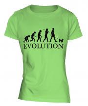 Miniature Poodle Evolution Ladies T-Shirt
