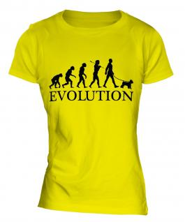 Miniature Schnauzer Evolution Ladies T-Shirt