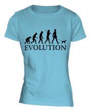 Toy Manchester Terrier Evolution Ladies T-Shirt