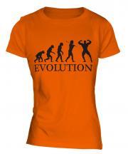 Bodybuilder Evolution Ladies T-Shirt