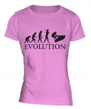 Jetski Evolution Ladies T-Shirt